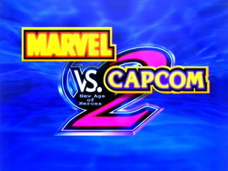 Marvel vs Capcom 2 - Title Screen