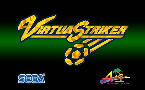 Virtua Striker - Title Screen
