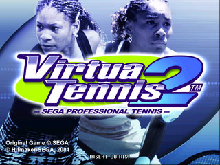 Virtua Tennis 2 - Title Screen