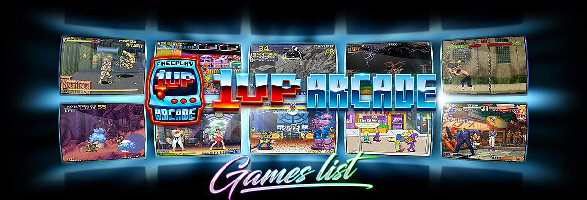 1UP Arcade - Games List